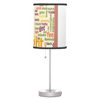 Lámpara de mesa elegante elegante del filo del cul