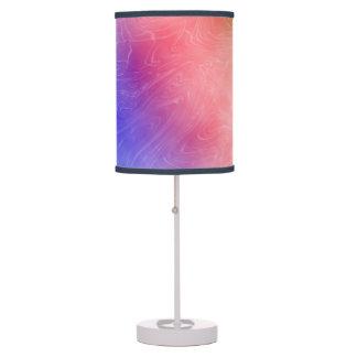 Lámpara de mesa en colores pastel ligera