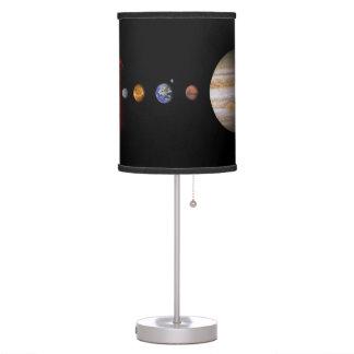 Lámpara de mesa en línea del espacio exterior de