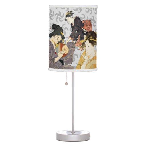 Lámpara de mesa japonesa del diseño del arte