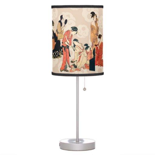 Lámpara de mesa japonesa imponente del diseño del