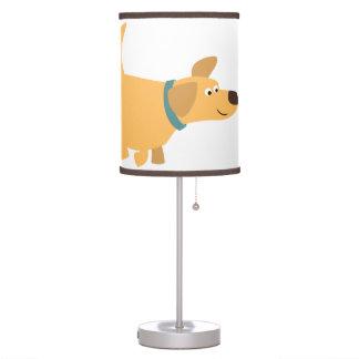 Lámpara de mesa linda de Labrador del amarillo del