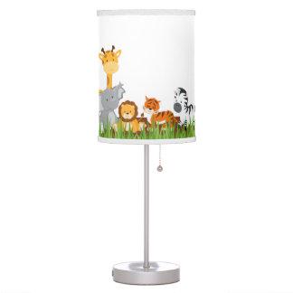 Lámpara de mesa linda de los animales del bebé de