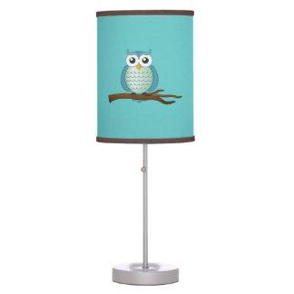 Lámpara de mesa linda de los búhos de la aguamarin