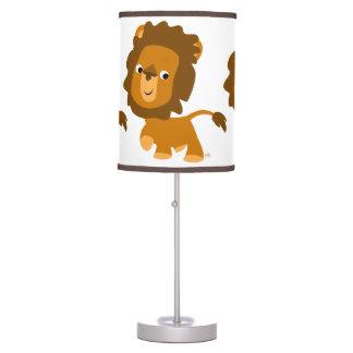 Lámpara de mesa linda del león del contenido del