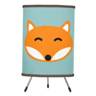 Lámpara de mesa linda del zorro rojo para el