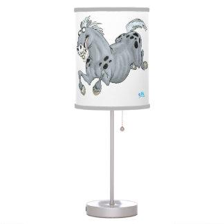 Lámpara de mesa loca del caballo del dibujo animad