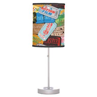 Lámpara de mesa modelada boleto de la noche de pel