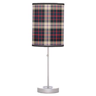 Lámpara de mesa moderna del tartán de Williamson