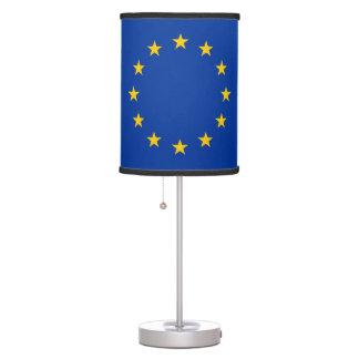 Lámpara de mesa patriótica con la bandera de la un