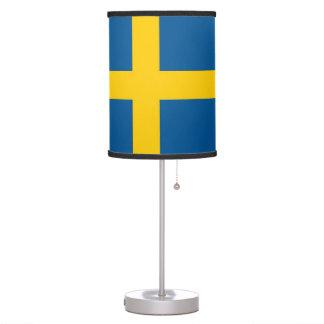 Lámpara de mesa patriótica con la bandera de Sueci