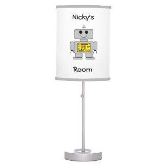 """Lámpara de mesa personalizada del """"robot"""""""