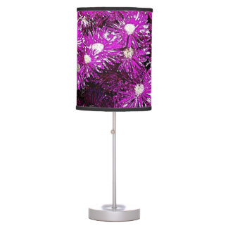 Lámpara de mesa púrpura del extracto del casquete
