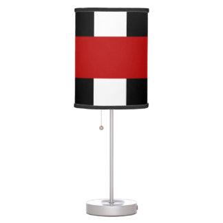 Lámpara de mesa rayada del piano: Rojo y negro