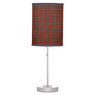 Lámpara de mesa real del tartán de Stewart