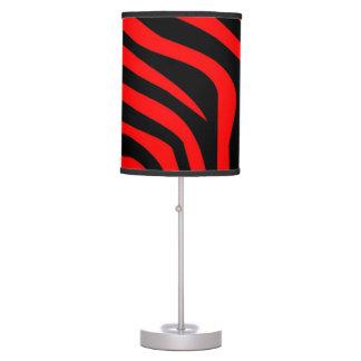 Lámpara de mesa roja brillante de la cebra