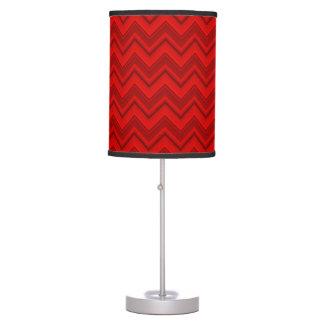 Lámpara de mesa roja de Chevron