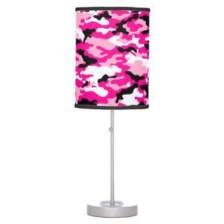 Lámpara de mesa rosada del camuflaje de CAMO