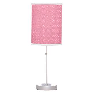 Lámpara de mesa rosada del lunar