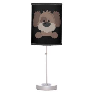 Lámpara de mesa sombreada negro -- Perro