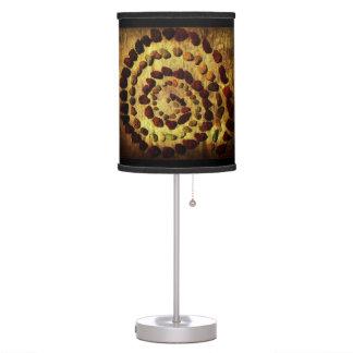 Lámpara de mesa terrosa del círculo de la roca
