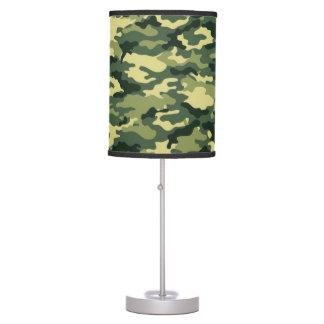 Lámpara de mesa verde clásica del camuflaje