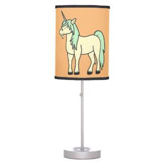 Lámpara de mesa verde del unicornio del bebé