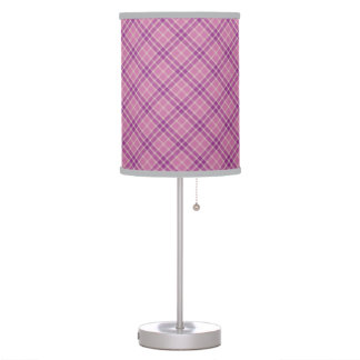 Lámpara de mesa violeta del modelo de la tela esco