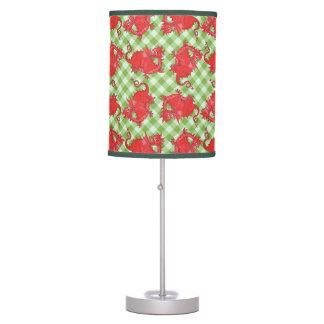 Lámpara de mesa y sombra: Dragón rojo en la guinga