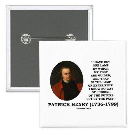 Lámpara de Patrick Henry del juicio de la experien Pins