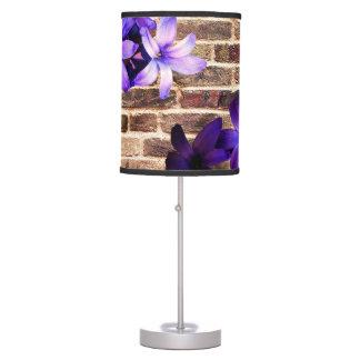 Lámpara de tabla de las flores de pared de