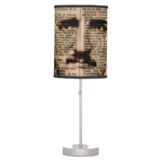 Lámpara de tabla de páginas del diccionario de Edg