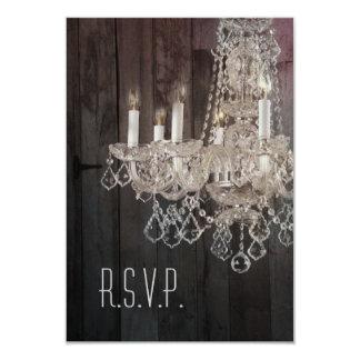 lámpara del barnwood del vintage que casa RSVP Invitación 8,9 X 12,7 Cm