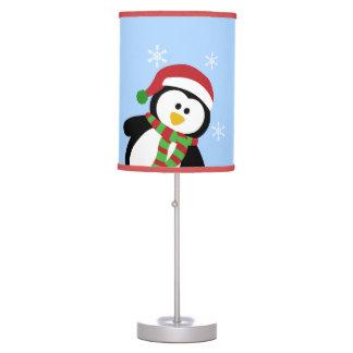 Lámpara del copo de nieve del pingüino del navidad