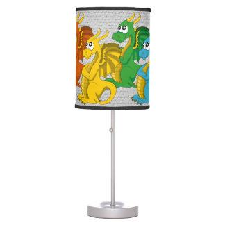 Lámpara del dibujo animado de los dragones