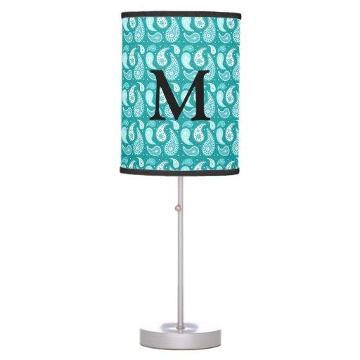 Lámpara del monograma del modelo de Paisley del tr