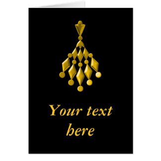 Lámpara del oro tarjeta de felicitación