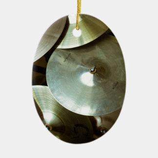 Lámpara del platillo adorno navideño ovalado de cerámica