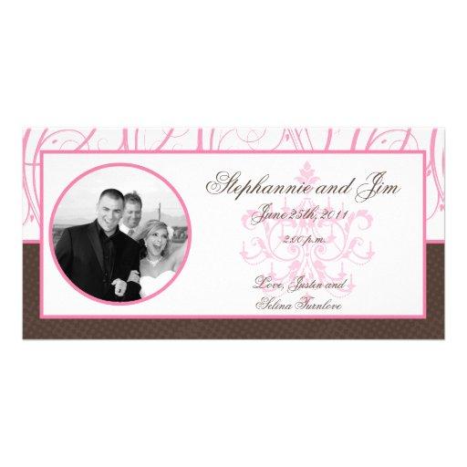 lámpara del rosa de la invitación de la foto del c tarjeta fotografica personalizada