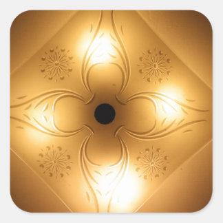 Lámpara del techo - cuadrado con 4 luces calcomania cuadrada personalizada