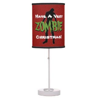 Lámpara divertida del acento del navidad del zombi