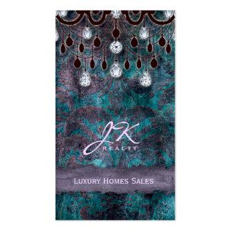 Lámpara elegante del vintage de las propiedades in tarjetas de negocios