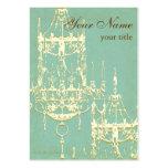 Lámpara elegante en las tonalidades de marfil y de plantillas de tarjetas de visita