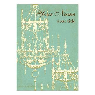 Lámpara elegante en las tonalidades de marfil y de tarjetas de visita grandes