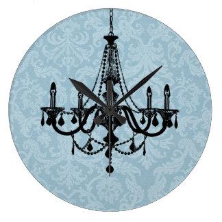 Lámpara elegante reloj redondo grande