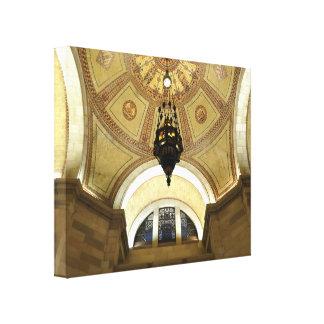 Lámpara en ayuntamiento el LA Lona Envuelta Para Galerias
