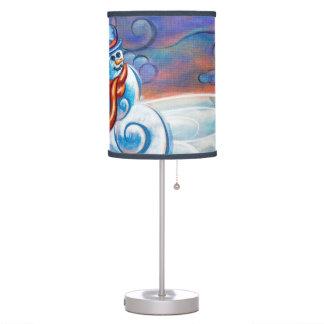 Lámpara escarchada de los azules