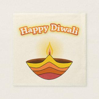 Lámpara feliz de Diwali y de Diya Servilletas Desechables