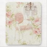 Lámpara floral del rosa del vintage de Budoir del Tapetes De Ratones