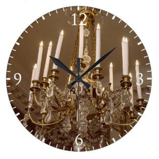Lámpara francesa, rococó en París Reloj Redondo Grande
